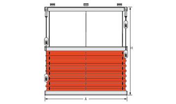 plisse typ F 2, šířka 1101-1200 mm (výrobce ISOTRA a.s.)