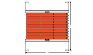 Plisse typ VS 2, šířka 1101-1200 mm (výrobce ISOTRA a.s.)