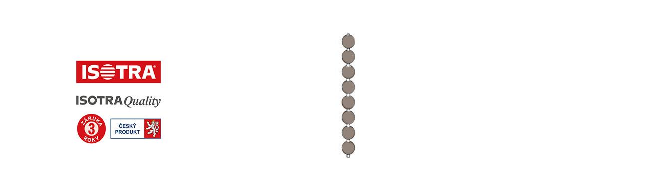 řetízek žaluzie univerzální, hnědý