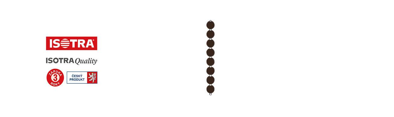 řetízek žaluzie univerzální, Tmavě hnědý