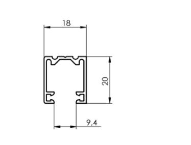Vodící lišta P 018/2